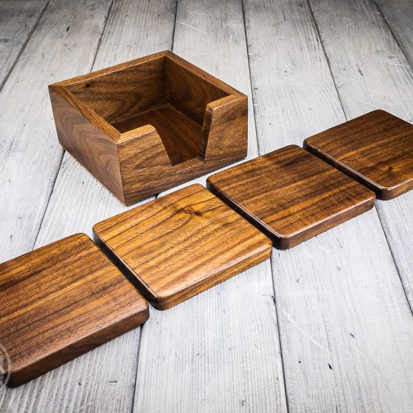 Coaster Set – Walnut
